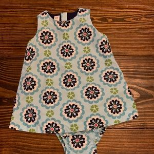 Baby Gap Floral Tile Dress with Bloomer